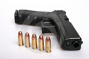 Gun And Bullets Royalty Free Stock Photo - Image: 8397195