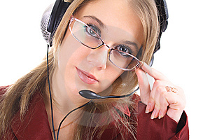 Friendly Customer Support, Isolated Stock Image - Image: 8397261