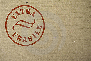 Cardboard With A Stamp Royalty Free Stock Images - Image: 8397409