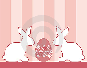Easter Bunnies And Egg Royalty Free Stock Photo - Image: 8398195