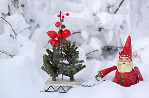 Santa Claus With Sleigh Stock Images - Image: 8398324