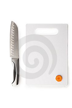 Kitchen Knife And The Chopping Board Stock Photos - Image: 8398553