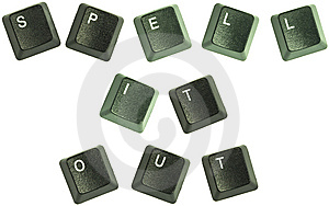 Spell It Out Keys Stock Images - Image: 8399014