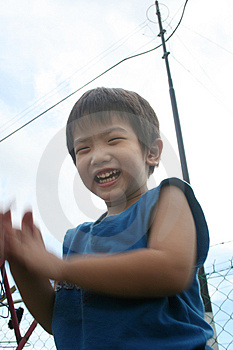 Boy Under The Wire Pole Stock Photography - Image: 840542
