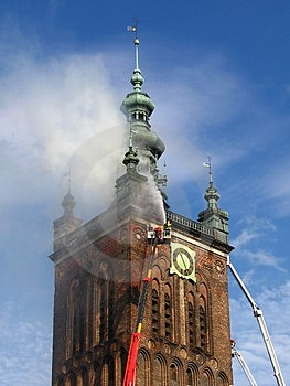 Church Is Burning Royalty Free Stock Image - Image: 843726