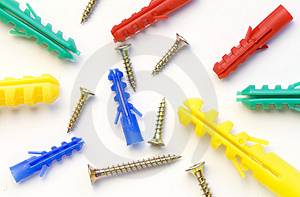 Screws And Dowels Royalty Free Stock Photos - Image: 8400198