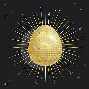 Easter Egg Glitter Ball Stock Photo - Image: 8400850