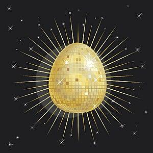 Easter Egg Glitter Ball Stock Photo - Image: 8400850