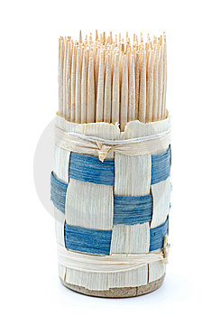 Bundle Of Wooden Toothpicks Royalty Free Stock Photography - Image: 8400977