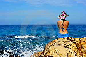 Girl At The Ocean Stock Photos - Image: 8402743