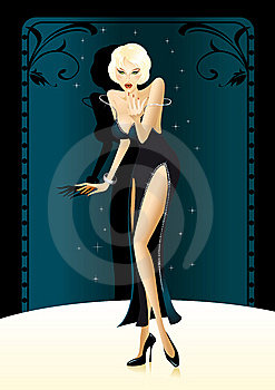 Illustration Of A Sexy Partygirl Royalty Free Stock Image - Image: 8403136