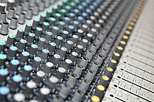 Sound  Knobs Stock Photography - Image: 8403302