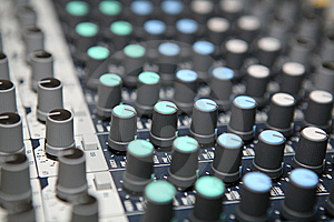 Sound  Knobs Royalty Free Stock Image - Image: 8403386