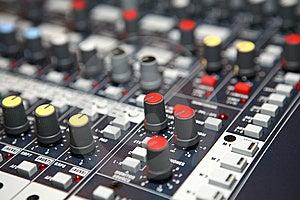 Sound  Knobs Royalty Free Stock Image - Image: 8403526