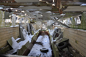 Old Abandoned Dairy Farm Stock Image - Image: 8403761