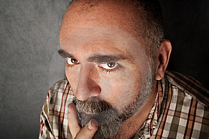 Closeup Of Man In His 40s Royalty Free Stock Photos - Image: 8403848