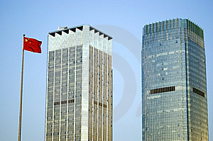 Skyscrapers In China Royalty Free Stock Image - Image: 8404276