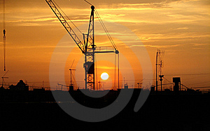 The Crane And Decline Royalty Free Stock Photos - Image: 8406368