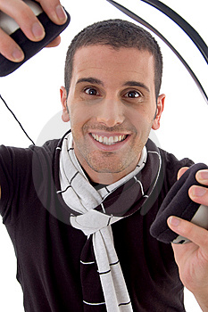 Smiling Man With Headphone Royalty Free Stock Photography - Image: 8406807