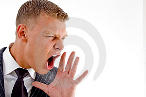 Close Up Of Shouting Executive Stock Images - Image: 8407604