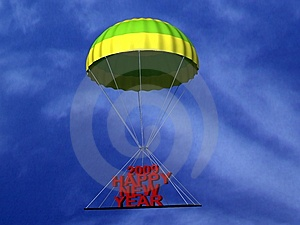 Parachute With Three Dimensional Text Stock Images - Image: 8407974