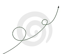 Arrow With Curve Stock Photo - Image: 8408000