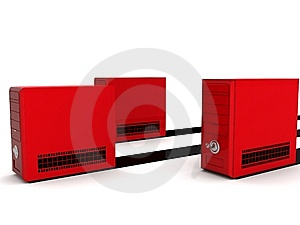 Red Cpu Royalty Free Stock Images - Image: 8408019