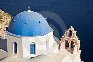 Greek Church, Santorini, Greece Stock Photo - Image: 8408680