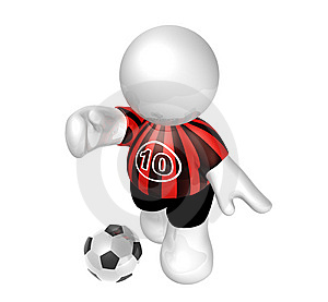 Soccer Player Star With Number Ten Stock Photos - Image: 8409293