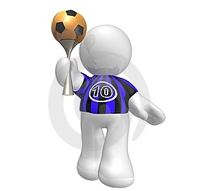 Soccer Player Star With Number Ten Stock Photo - Image: 8409340