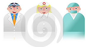 People Icons Medical Stock Photo - Image: 8409470