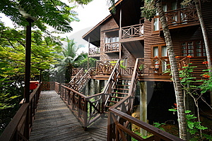 Wooden Bungalow Resort Stock Photography - Image: 8409682