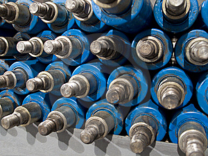 Shock Absorbers In Storage Royalty Free Stock Photography - Image: 8410487