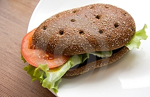 Sandwich With Freshness Vegetables Stock Photo - Image: 8410860
