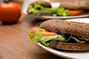Sandwich With Freshness Vegetables Stock Photo - Image: 8410890