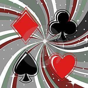 Gambling Cards Signs Set Stock Image - Image: 8411031