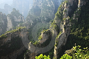 Landscape Of ZhangjiaJie National Geologic Park Stock Image - Image: 8411271