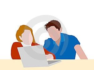 Junge Paare, Die Zusammen Studieren Lizenzfreie Stockbilder - Bild: 8411949
