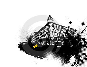 Illustration With City. Vector Stock Image - Image: 8412001