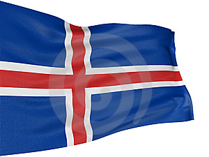 Icelandic флага 3d Стоковые Фото - изображение: 8412083