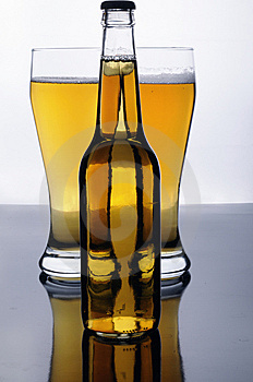 Light And Dark (beermania) Royalty Free Stock Photos - Image: 8412208