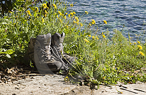 Hiking Boots Royalty Free Stock Photos - Image: 8412498