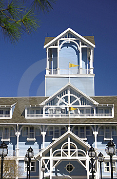 Balcony Terrace And Tower Siding House Stock Photos - Image: 8412663