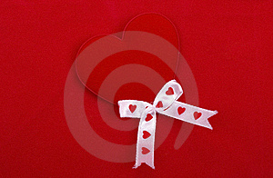 Red Heart On Red. Royalty Free Stock Images - Image: 8413629