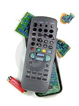 Smashed TV Remote Stock Photo - Image: 8414270