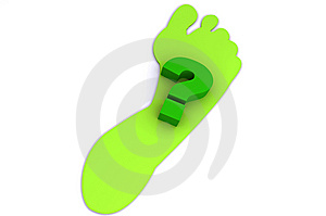 How Green Is Your Footprint? Stock Images - Image: 8414384