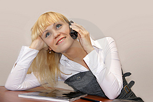 Phone Conversation Stock Images - Image: 8414524