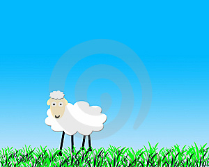Funny Sheep Stock Photo - Image: 8415100
