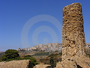 Agrigento Sicily-greek Temple Ruins Stock Photos - Image: 8415193