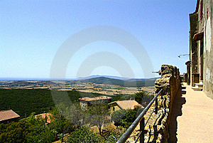 Panorama From Capalbio Royalty Free Stock Photography - Image: 8415197